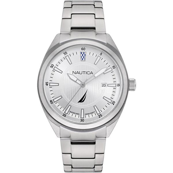 Battery Park Stainless Steel Bracelet Watch, Silver, hi-res