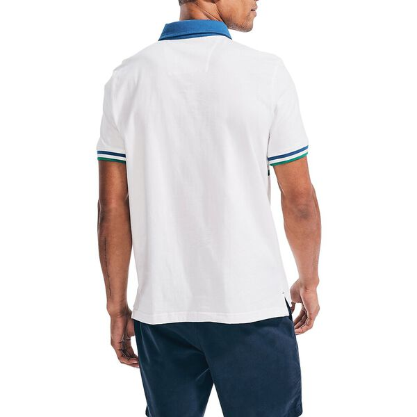 Nautica Jeans Co. Rugby Inspired Block Polo, Sail White, hi-res