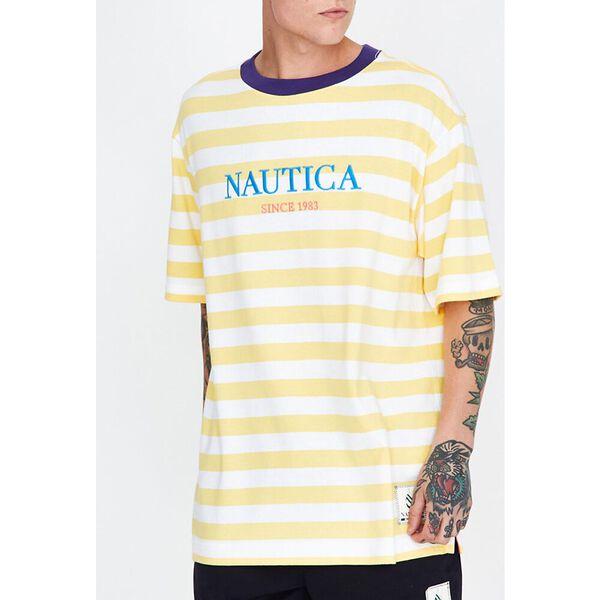 Stripe T-Shirt Snap Dragon Yellow