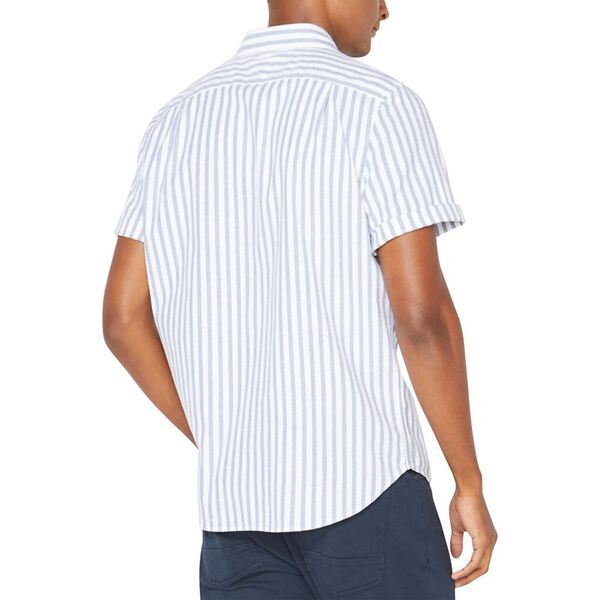 Classic Fit Striped Oxford Shirt, Limoges, hi-res