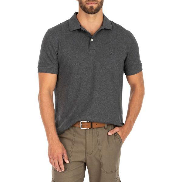 Classic Fit Premium Cotton Interlock Polo, Charcoal Heather, hi-res