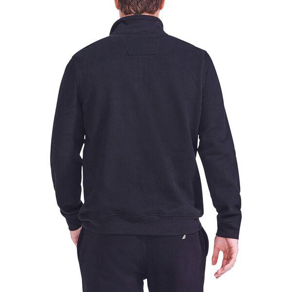 J. Class Pieced Quarter Zip Sweater, True Black, hi-res