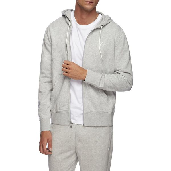 J CLASS FULL ZIP HOODIE, GREY HEATHER, hi-res