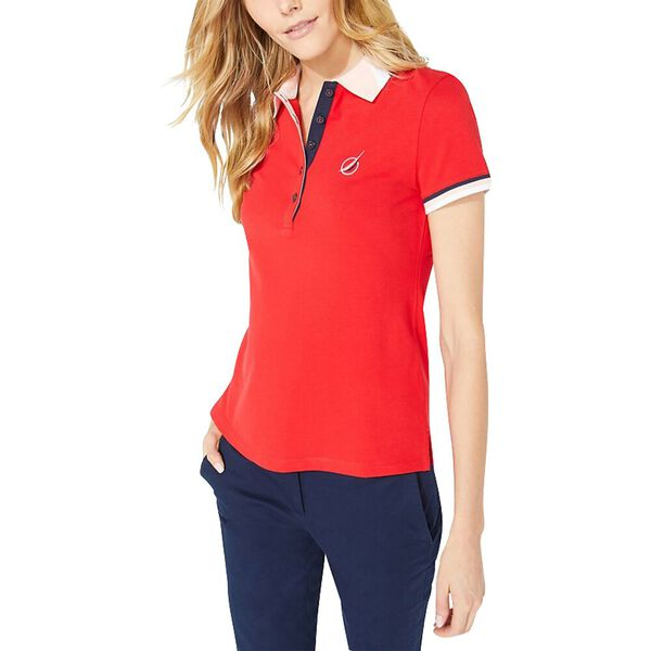 Colourblock Contrast Collar Sporty Polo