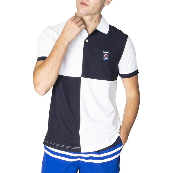 Navtech Slim Fit Check Play Polo, Bright White, hi-res