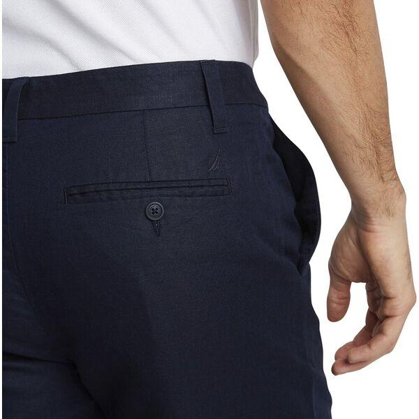 Cotton Linen Short, Navy, hi-res