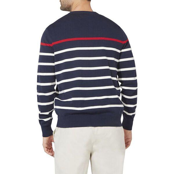 Breton Stripe Cardigan, Navy, hi-res