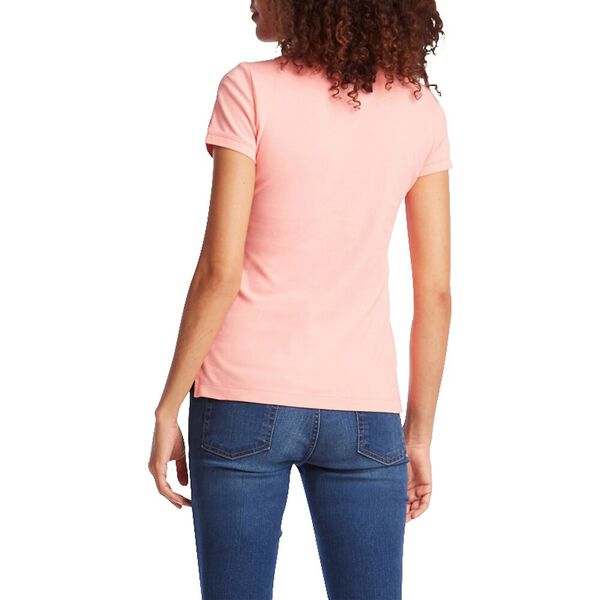 Classic Fit Chambray Collar Polo, Paradise Pink, hi-res