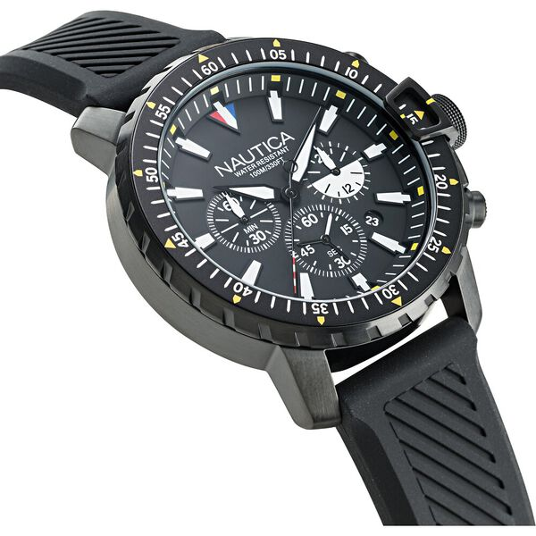 Icebreaker Cup Chronograph Watch, Black, hi-res