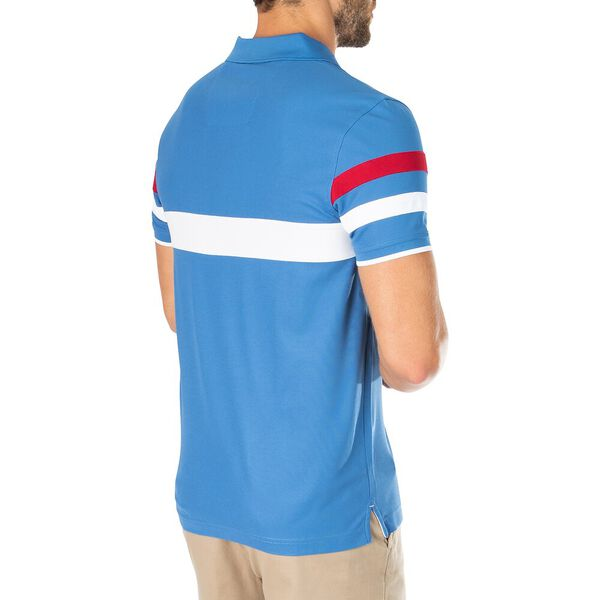 Sustainably Crafted Front Focus Polo, Windsurf Blue, hi-res