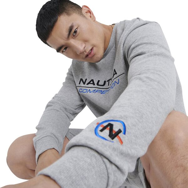 Nautica Competition Collier Jumper, Grey Heather, hi-res