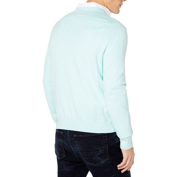 Navtech V-neck Jersey Sweater, Aqua Breeze, hi-res