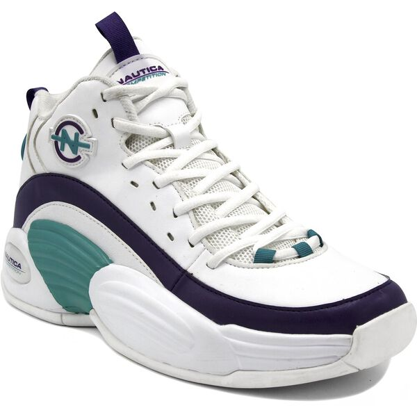 Nautica Competition Footaction Spara Sneakers, White/Teal/Purple, hi-res