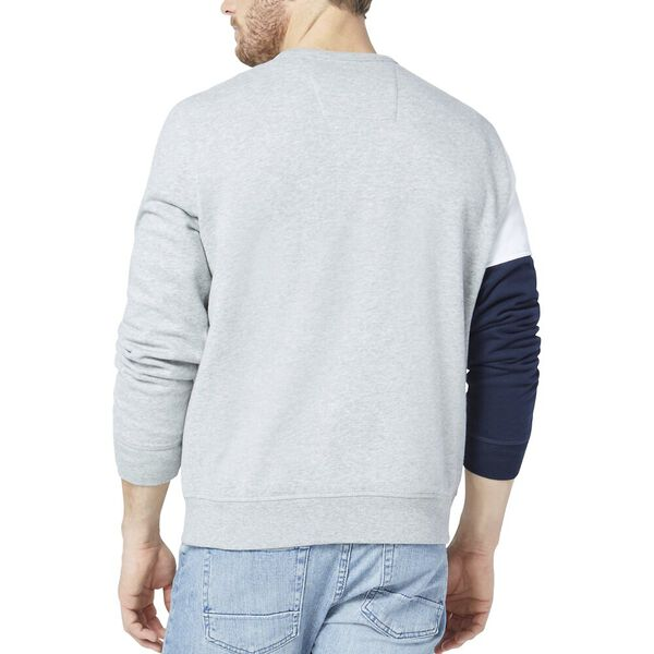 Blocked Logo Crew Sweater, Grey Htr, hi-res