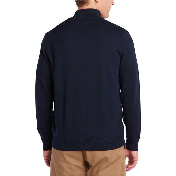 Full Zip Navtech Jersey Mock Neck Sweater, Navy, hi-res