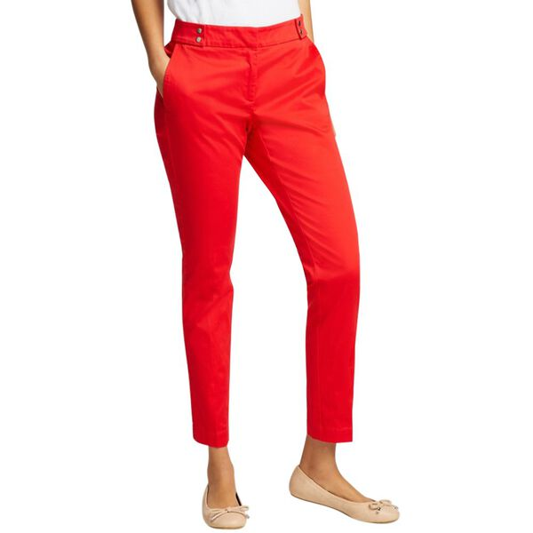 ANKLE LENGTH PANT WITH SNAP TAB WAISTBAND
