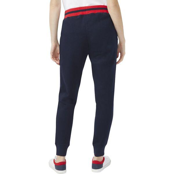 Banded Stripe Track Pants, Navy, hi-res