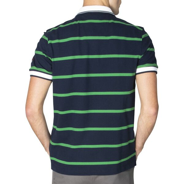 Slim Fit Harvard Stripe Polo, Navy, hi-res