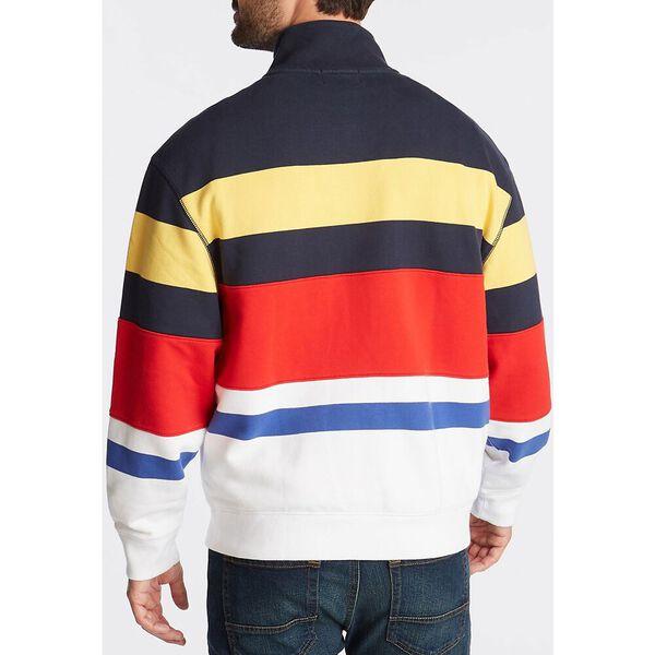 Reissue Vintage Stripe 1/4 Zip Pullover, Navy, hi-res