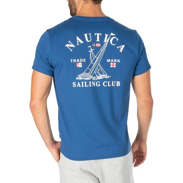 Sustainably Crafted 1983 Sailing Club Tee, Denim Wash, hi-res