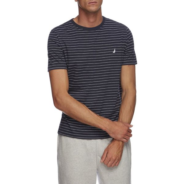 SHORT SLEEVE CLASSIC STRIPE T-SHIRT, NAVY, hi-res