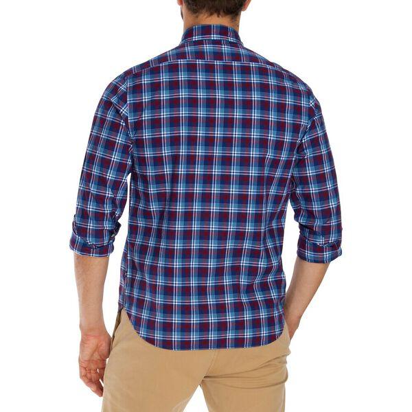 Slim Fit Wrinkle Resistant Plaid Shirt, Zinfandel, hi-res