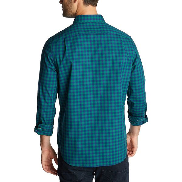 Classic Fit Long Sleeve Wrinkle Resistant Gingham Shirt, Spruce, hi-res