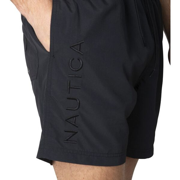 Nautica Always Water Ready Swim Shorts, True Black, hi-res