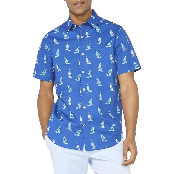 Classic Fit Windsurfer Print Shirt, Windsurf Blue, hi-res