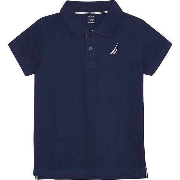 Boys 8-14 Mini Anchor Deck Short Sleeve Polo
