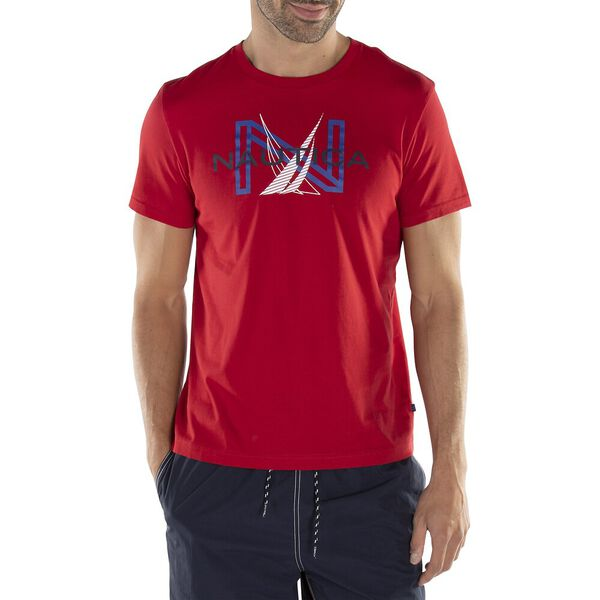 J CLASS GRAPHIC TEE, NAUTICA RED, hi-res