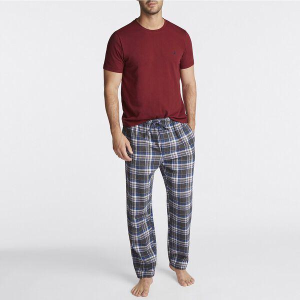 Plaid Pants Pyjama Set, Zinfandel, hi-res