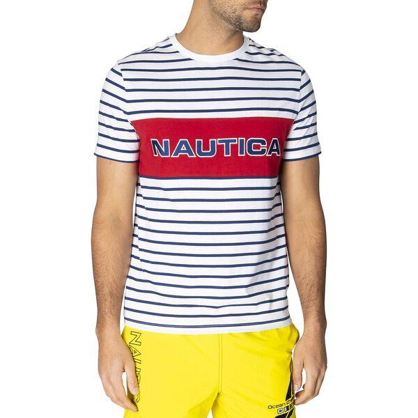 Nautica Colourblock Short Sleeve Stripe Tee