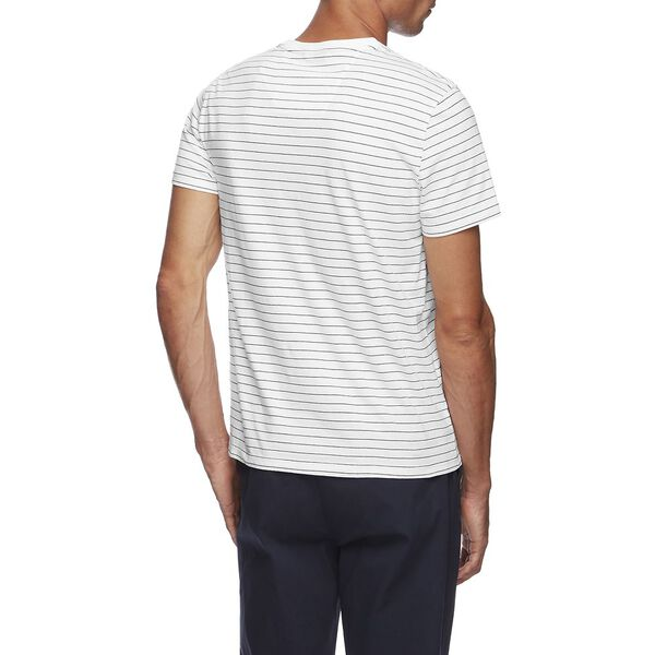 Short Sleeve Classic Stripe T-Shirt, Bright White, hi-res