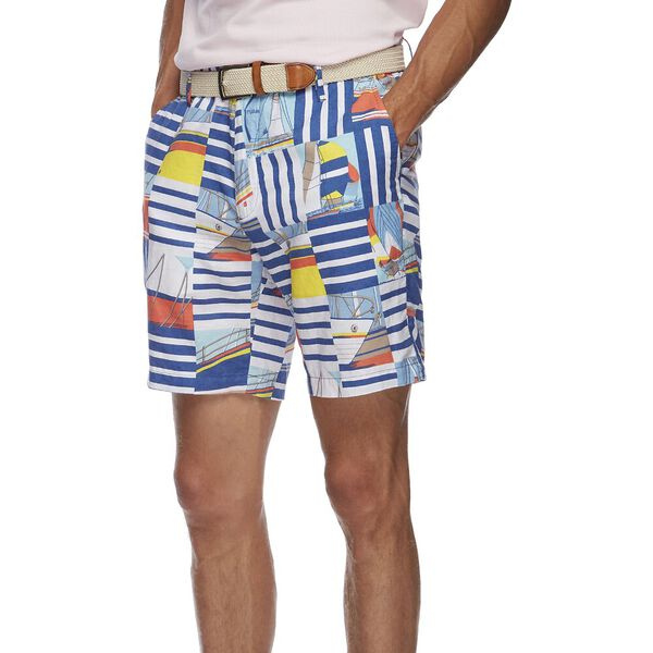 Stripe Boat Party Flat Front Shorts