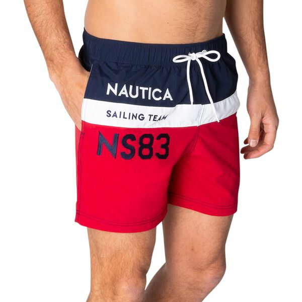 Join The Crew Elasticated Waist Swim Shorts, Nautica Red, hi-res