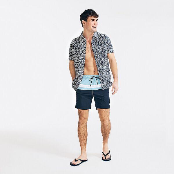 "Slim Band 8"" Swim Shorts, Alaskan Blue, hi-res"