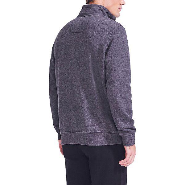 J. Class Pieced Quarter Zip Sweater, Charcoal Heather, hi-res