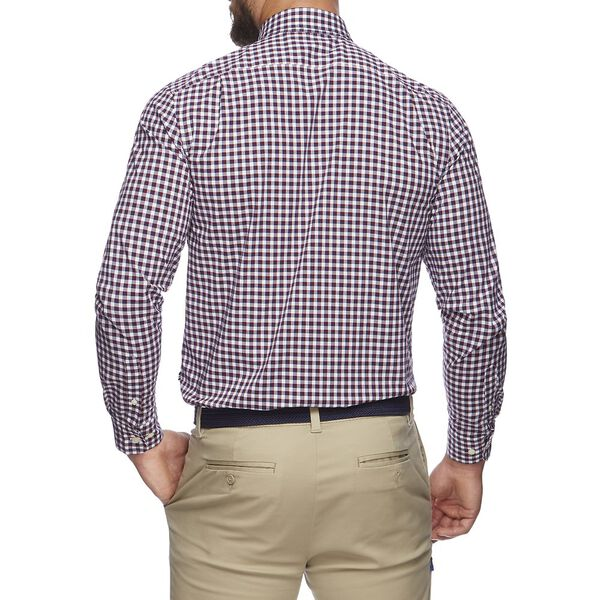 NAVTECH PLAID POCKET LONG SLEEVE SHIRT, ZINFANDEL, hi-res