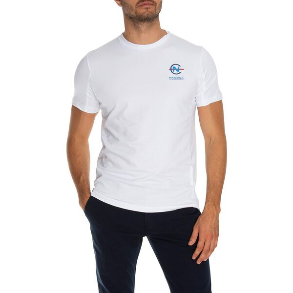 Nautica Competition Panelled Tee, Bright White, hi-res