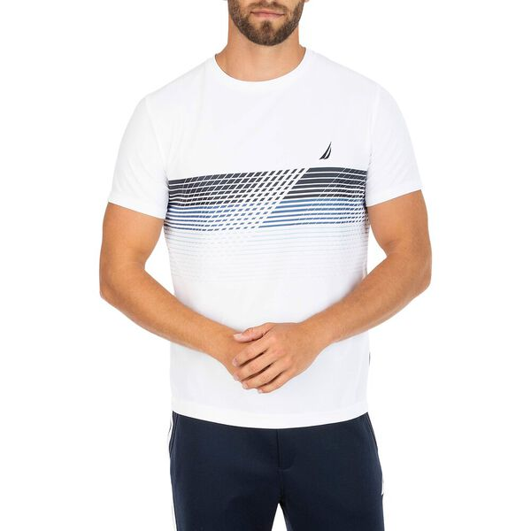 Sustainably Crafted Navtech Graphic Tee, Bright White, hi-res