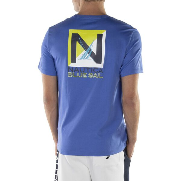 Blue Sail Box Graphic Tee, Cobalt Wave, hi-res