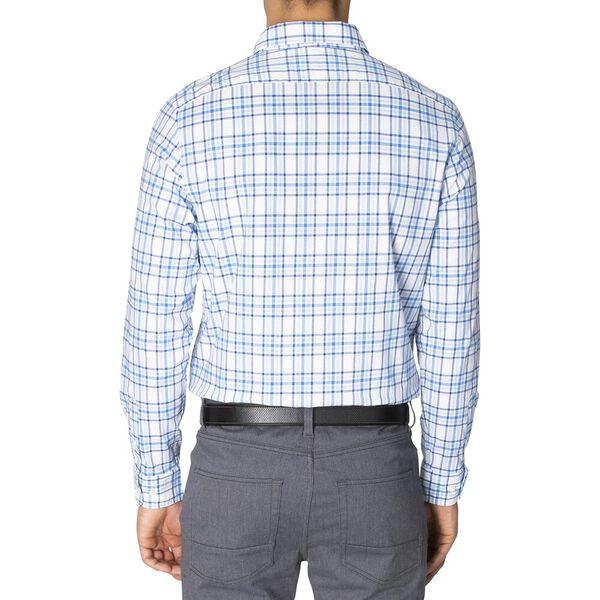 Slim Fit Navtech Blue Shadow Long Sleeve Checked Shirt, Light Haze, hi-res