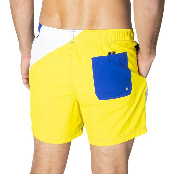 See The Flags Elasticated Waist Swim Shorts, Bright Cobalt Blue, hi-res