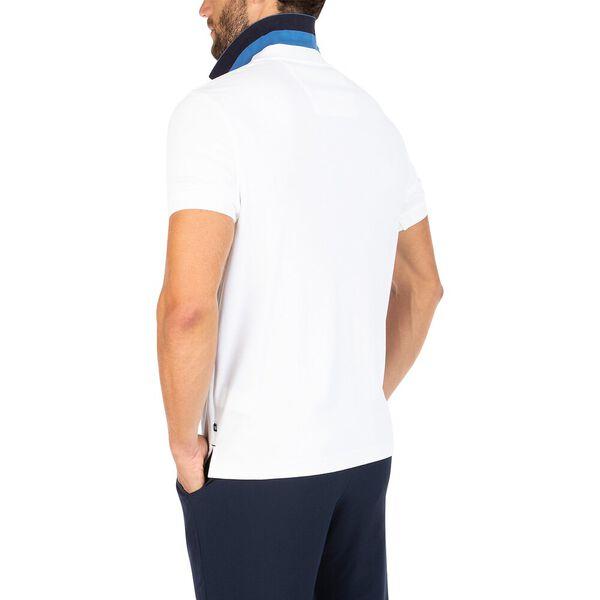 Block Collar Polo, Bright White, hi-res