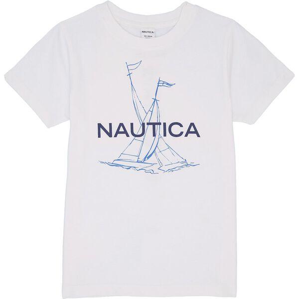 Boys 3 -7 Rower T-Shirt, White, hi-res