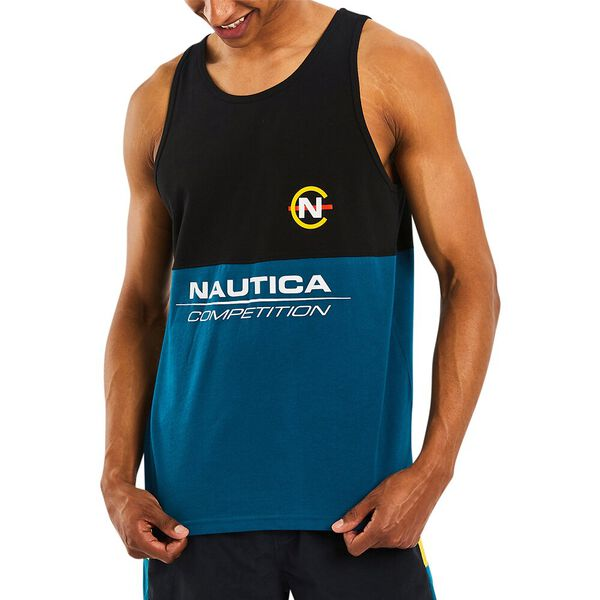 Nautica Competition Anson Singlet, Teal Tides, hi-res
