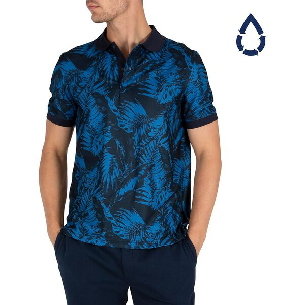 Sustainably Crafted Shadow Palm Polo, Navy, hi-res