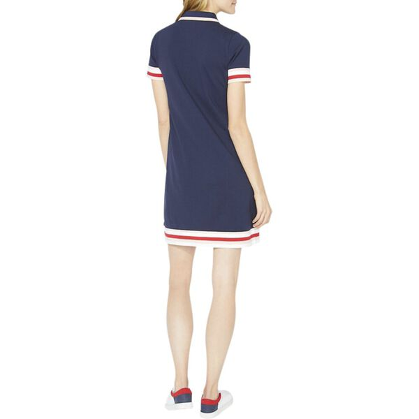 Laura Chambray Collar Polo Dress, Navy Seas, hi-res