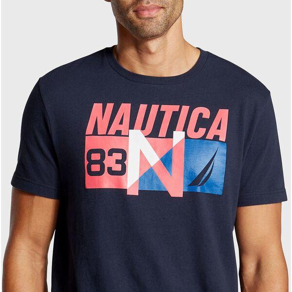N-83 Short Sleeve Tee, Navy, hi-res